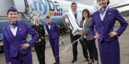 Flybe has reason to celebrate first birthday at Cardiff Airport
